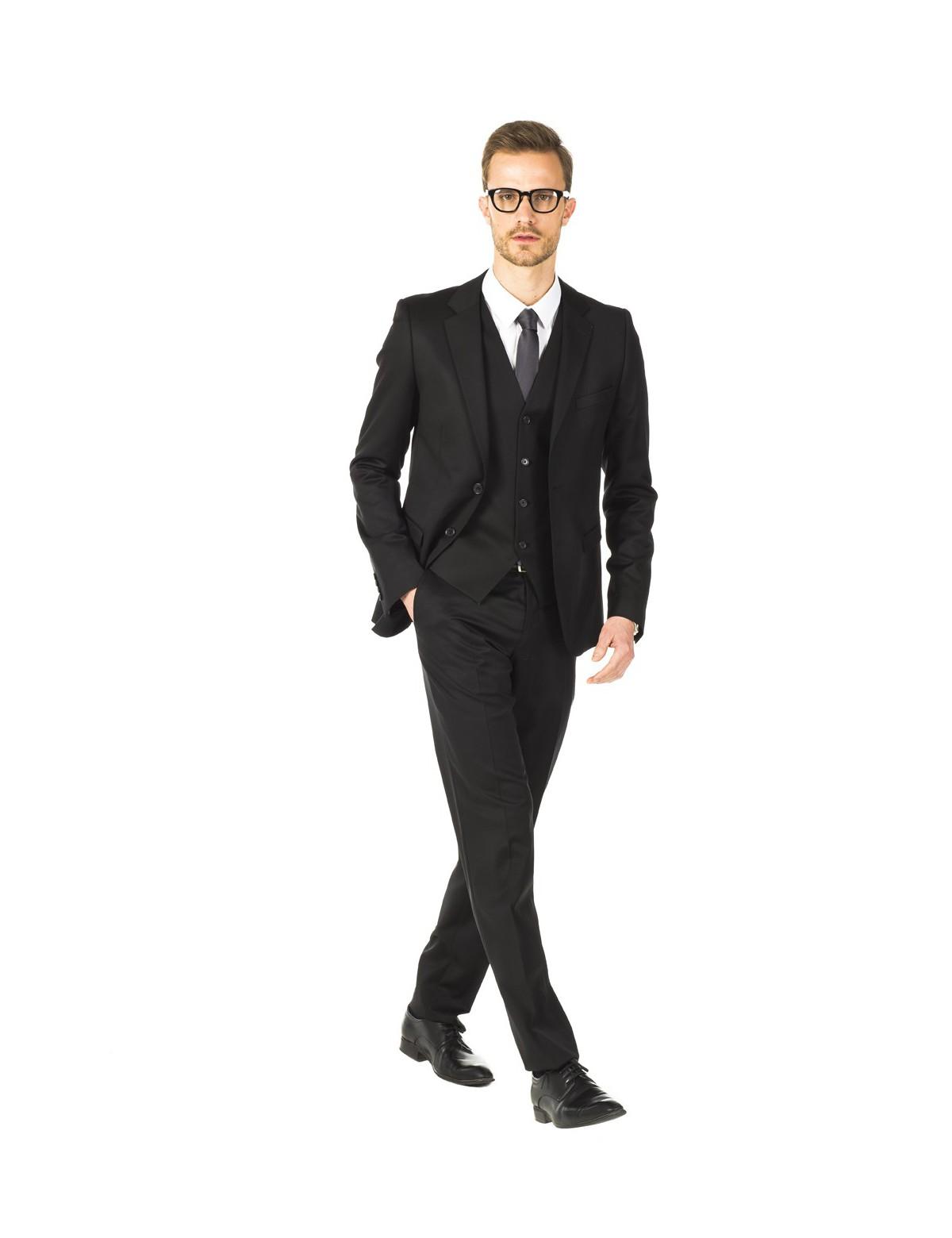cravate gris motif costume noir wmag modes et tendances. Black Bedroom Furniture Sets. Home Design Ideas